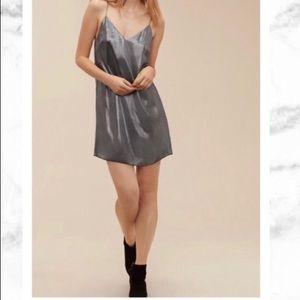 Aritizia Wilfred free vivienne dress in metallic s